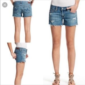 AG for Calypso St. Barth The Carrie Denim Shorts